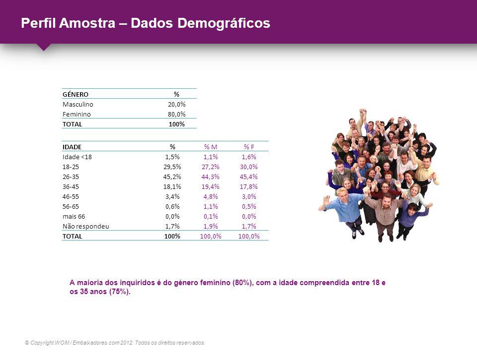 Perfil Amostra – Dados Demográficos