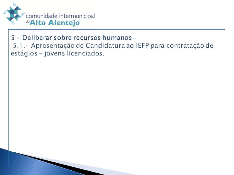 5 – Deliberar sobre recursos humanos 5. 1