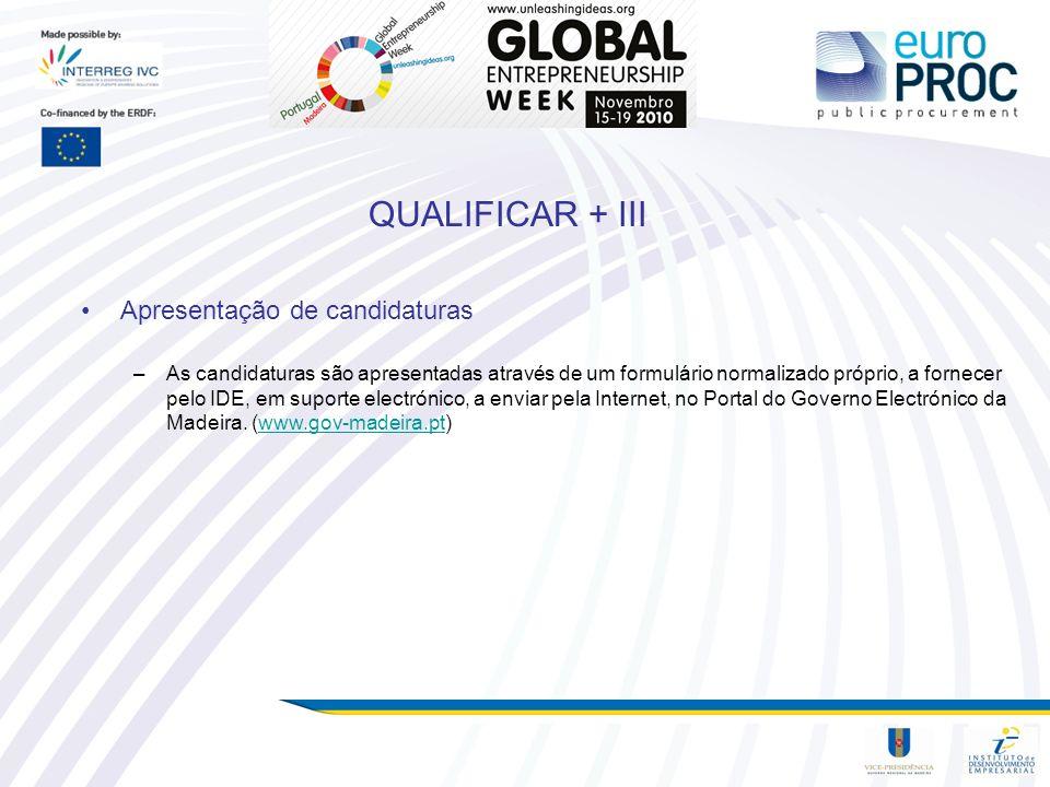 QUALIFICAR + III Apresentação de candidaturas