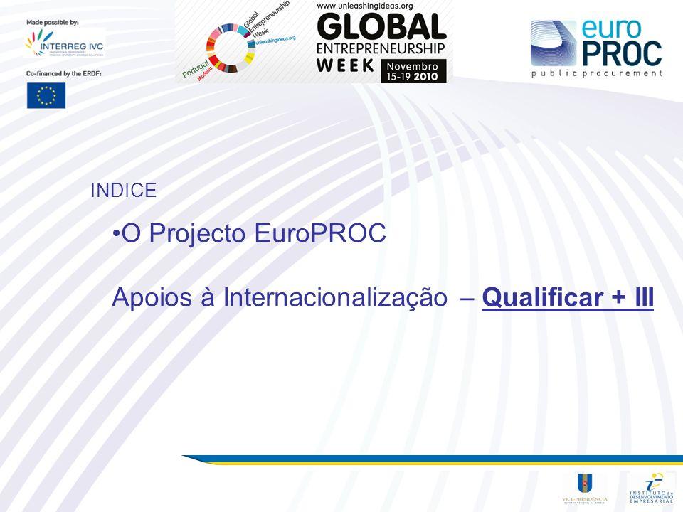 O Projecto EuroPROC Apoios à Internacionalização – Qualificar + III