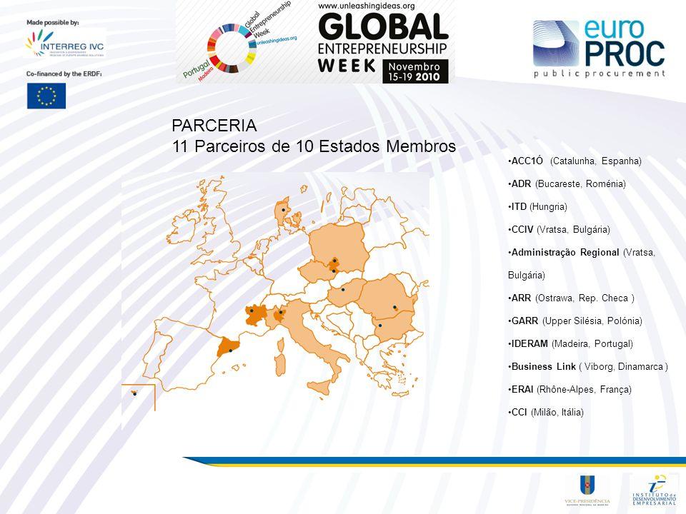 11 Parceiros de 10 Estados Membros
