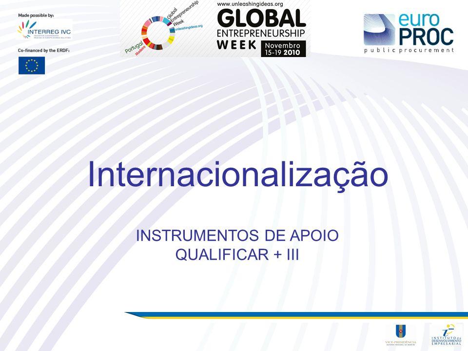 INSTRUMENTOS DE APOIO QUALIFICAR + III