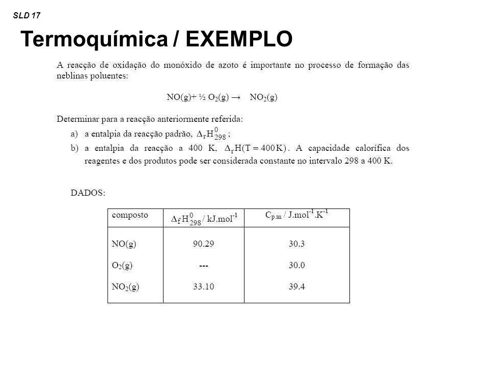 Termoquímica / EXEMPLO