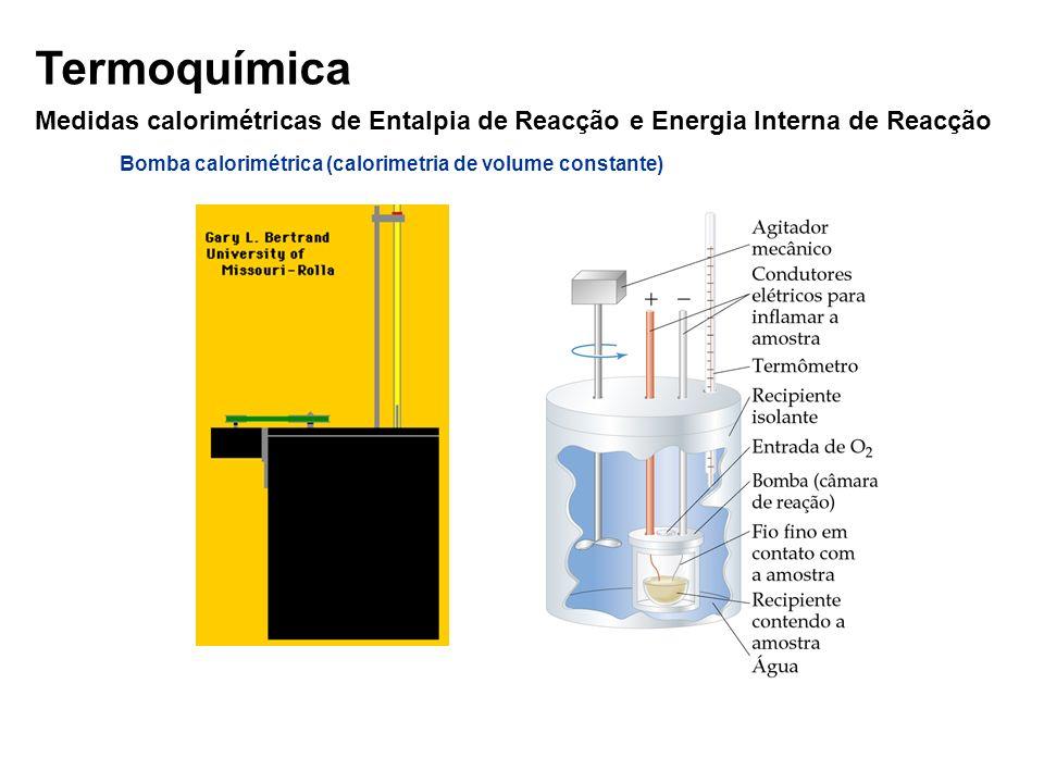 Bomba calorimétrica (calorimetria de volume constante)
