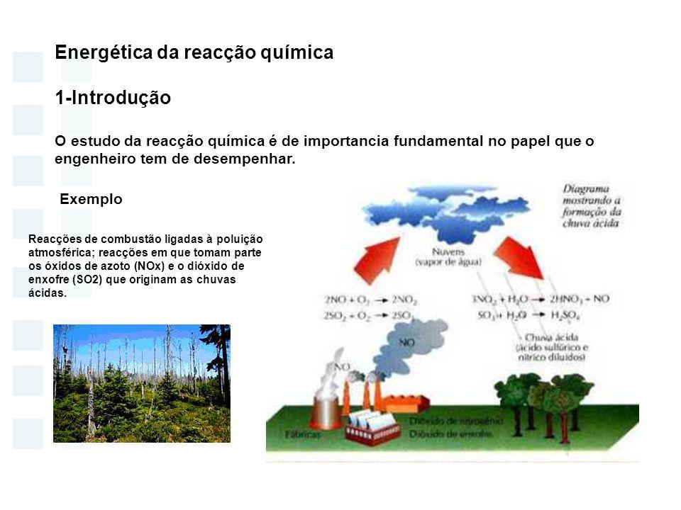 Energética da reacção química 1-Introdução
