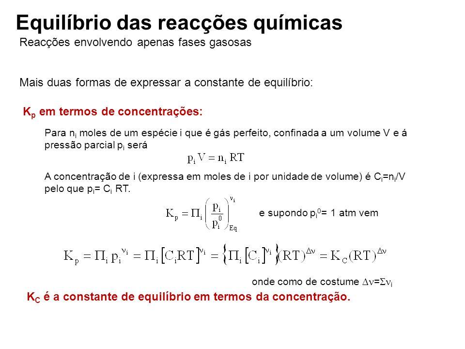 Equilíbrio das reacções químicas