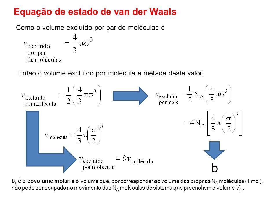 b Equação de estado de van der Waals