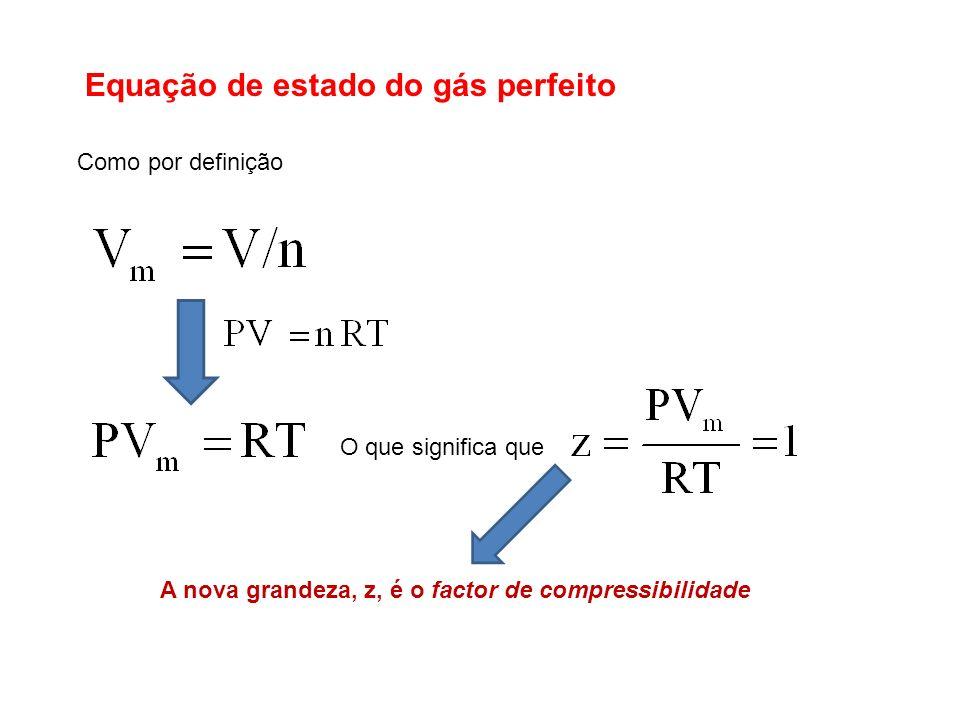 Equação de estado do gás perfeito