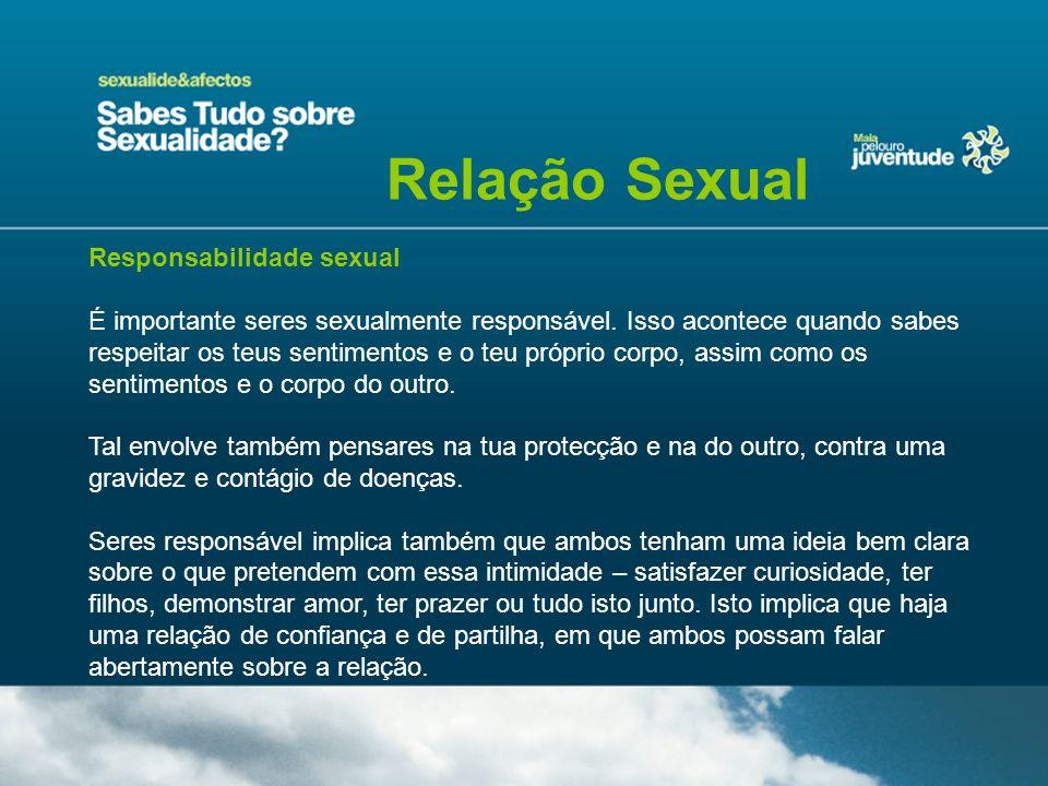 Relação Sexual Responsabilidade sexual