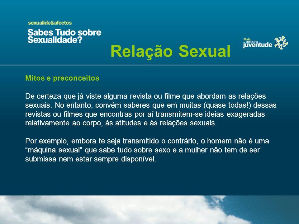 Relação Sexual Mitos e preconceitos