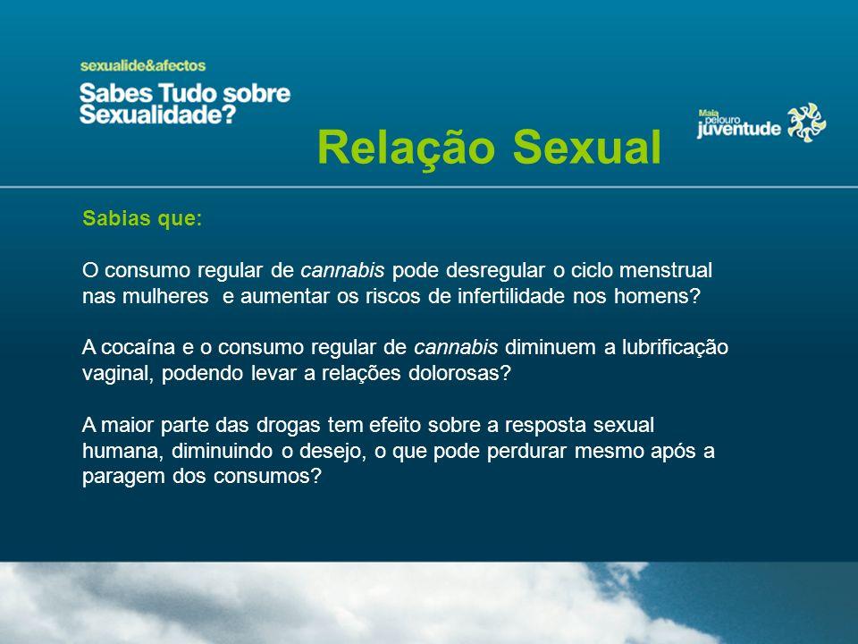 Relação Sexual Sabias que: