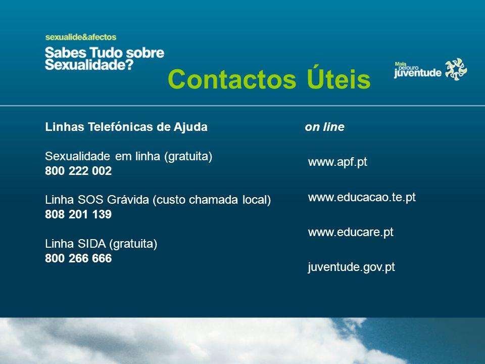 Contactos Úteis Linhas Telefónicas de Ajuda