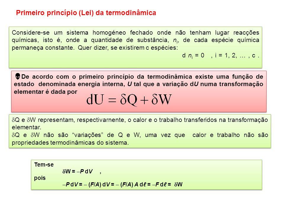 Primeiro princípio (Lei) da termodinâmica
