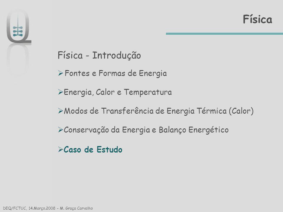Física Física - Introdução Fontes e Formas de Energia