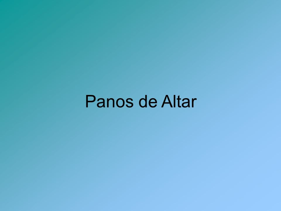 Panos de Altar