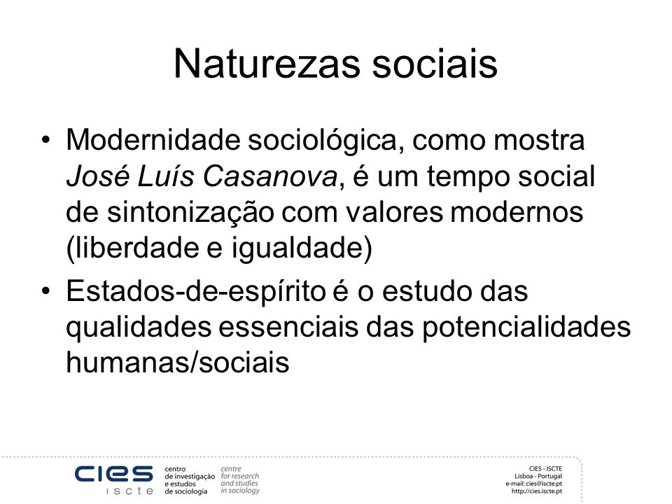 Naturezas sociais