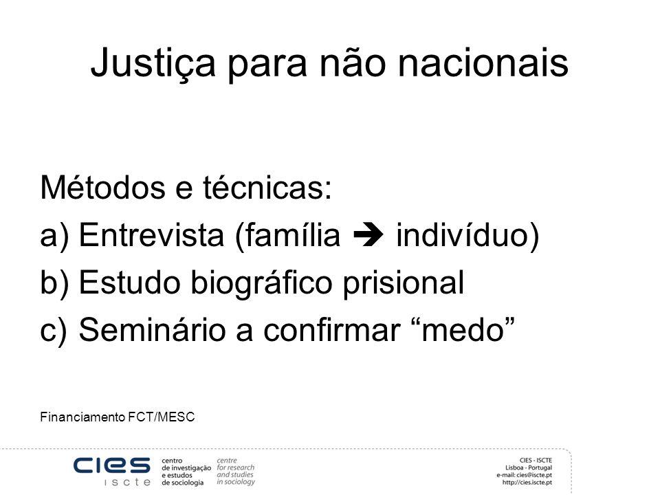Justiça para não nacionais