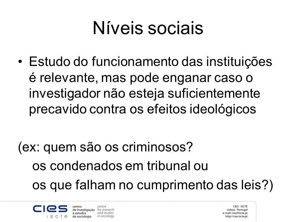 Níveis sociais
