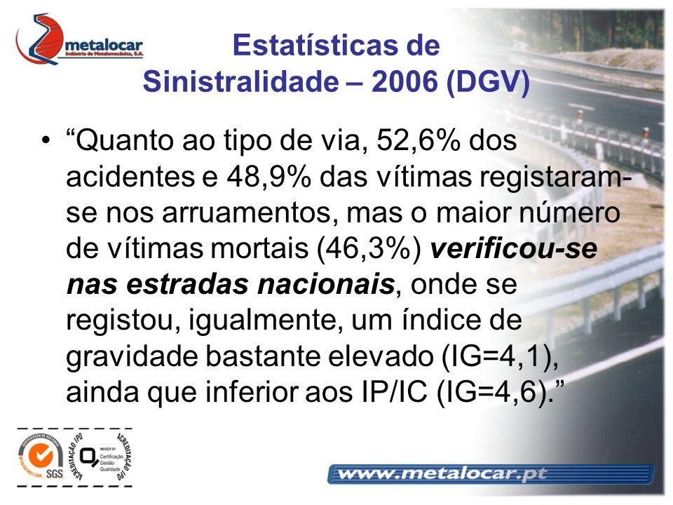 Estatísticas de Sinistralidade – 2006 (DGV)