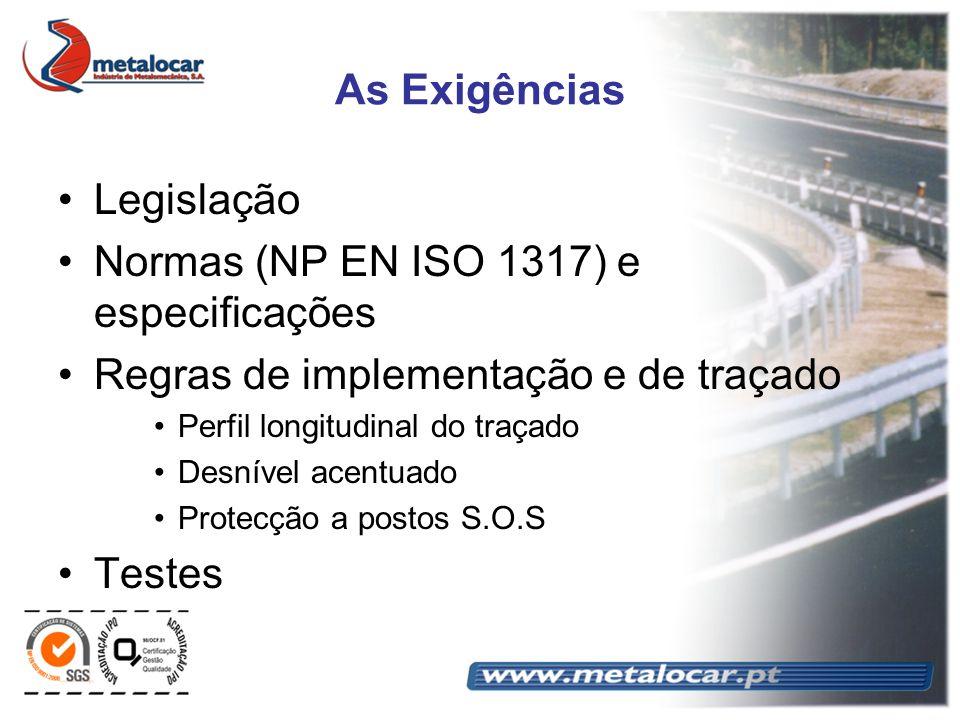 Normas (NP EN ISO 1317) e especificações