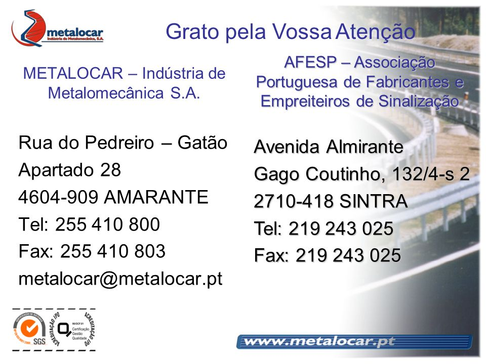 METALOCAR – Indústria de Metalomecânica S.A.