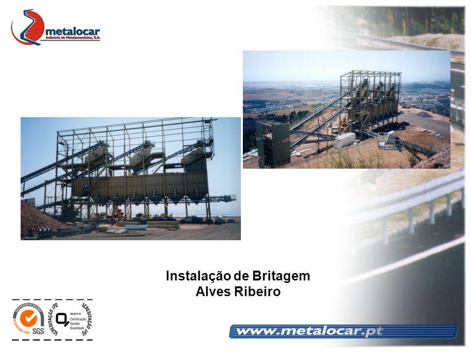 Instalação de Britagem Alves Ribeiro