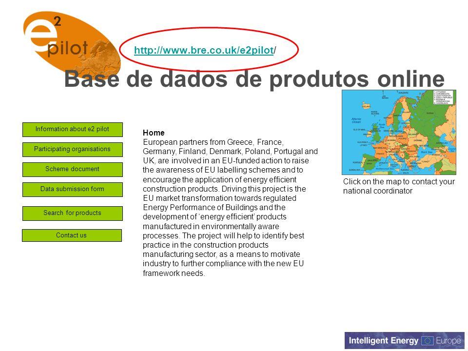 Base de dados de produtos online