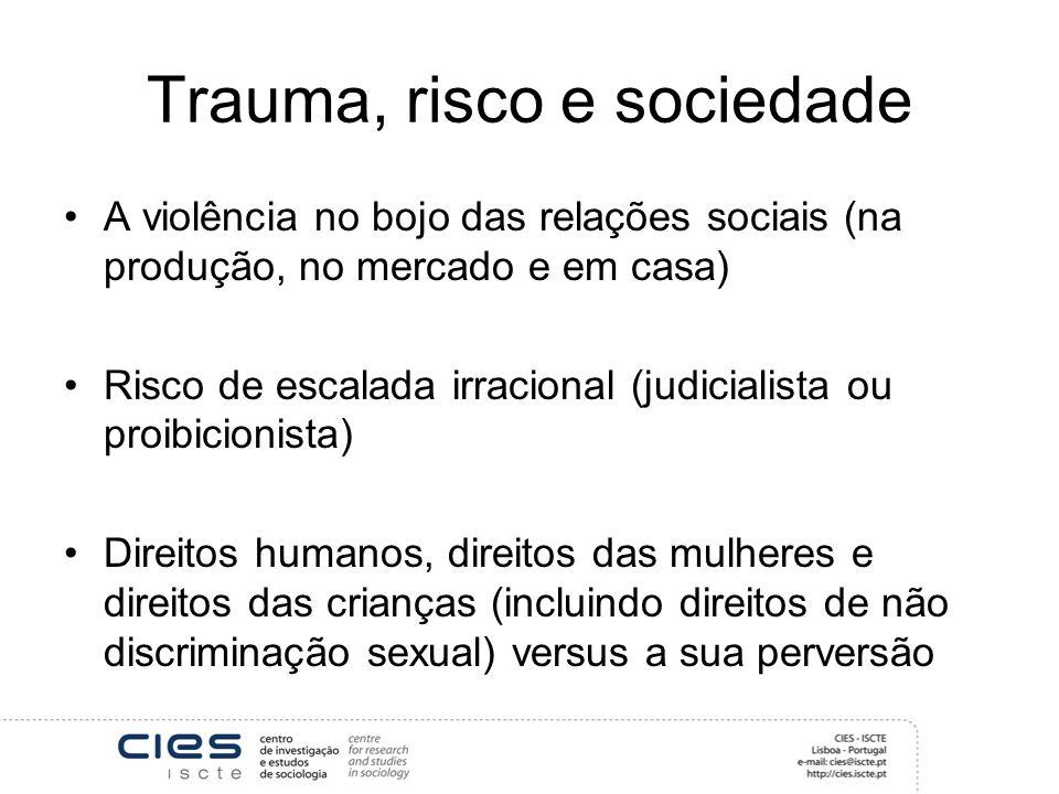 Trauma, risco e sociedade