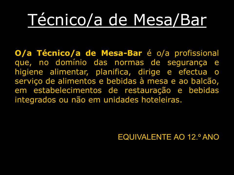 Técnico/a de Mesa/Bar