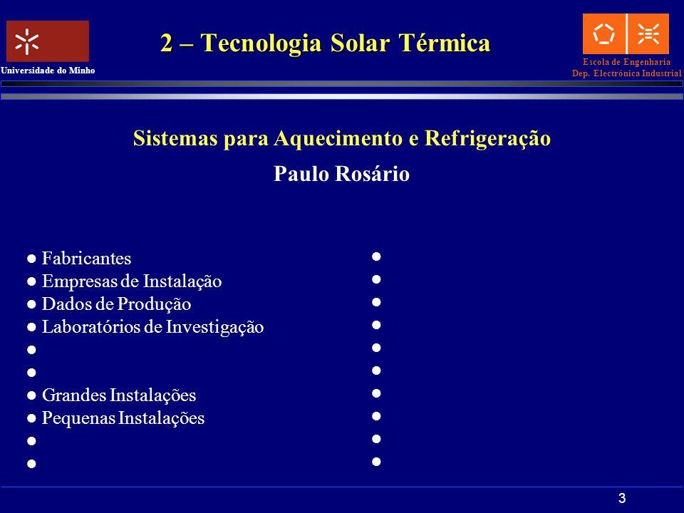 2 – Tecnologia Solar Térmica