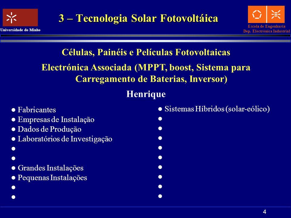 3 – Tecnologia Solar Fotovoltáica