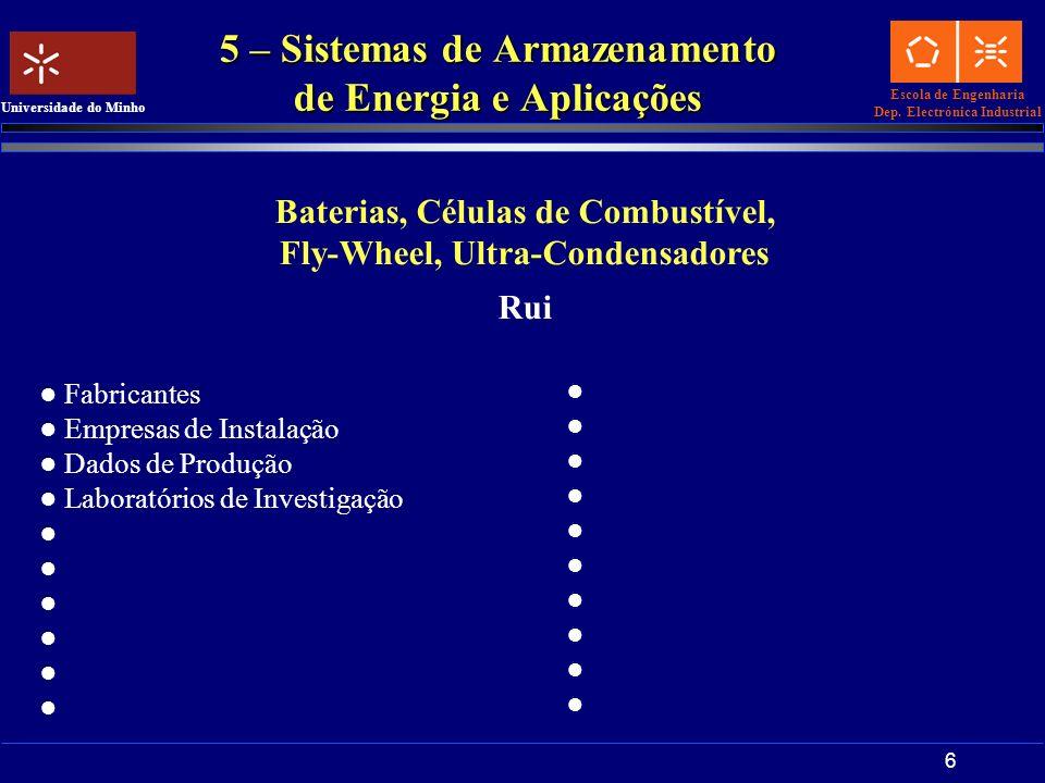 5 – Sistemas de Armazenamento de Energia e Aplicações
