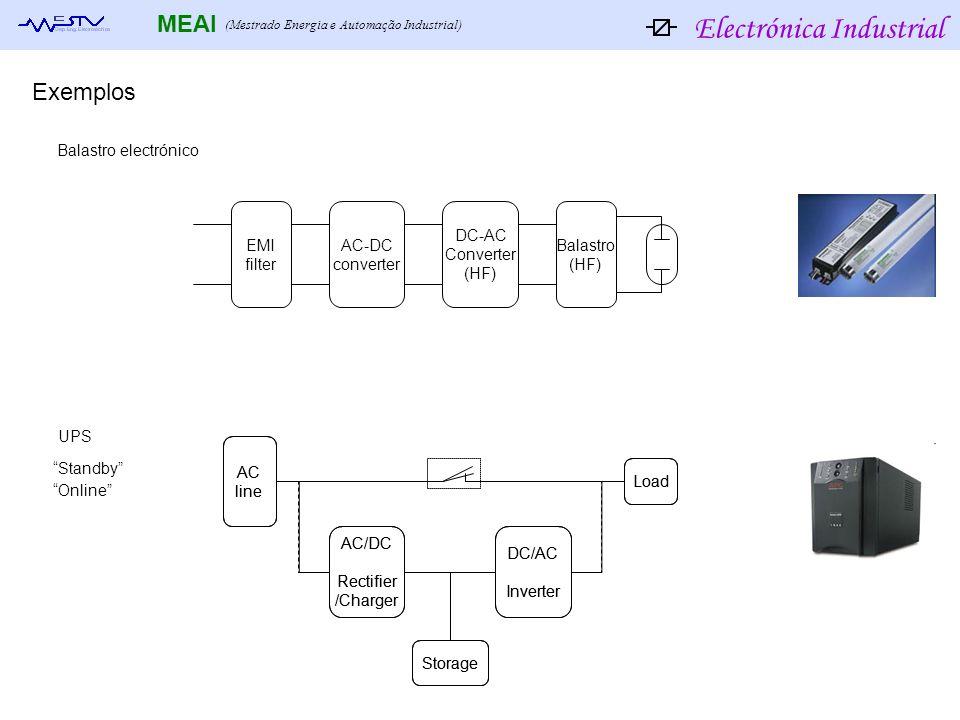 Exemplos Balastro electrónico EMI filter AC-DC converter DC-AC