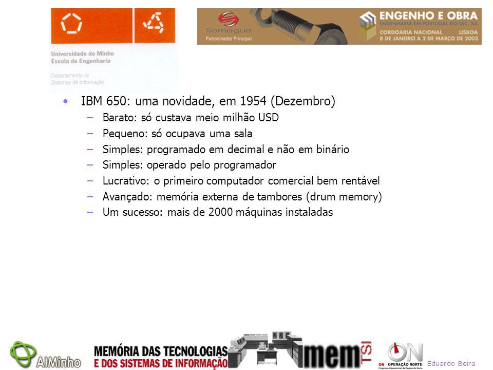 IBM 650: uma novidade, em 1954 (Dezembro)
