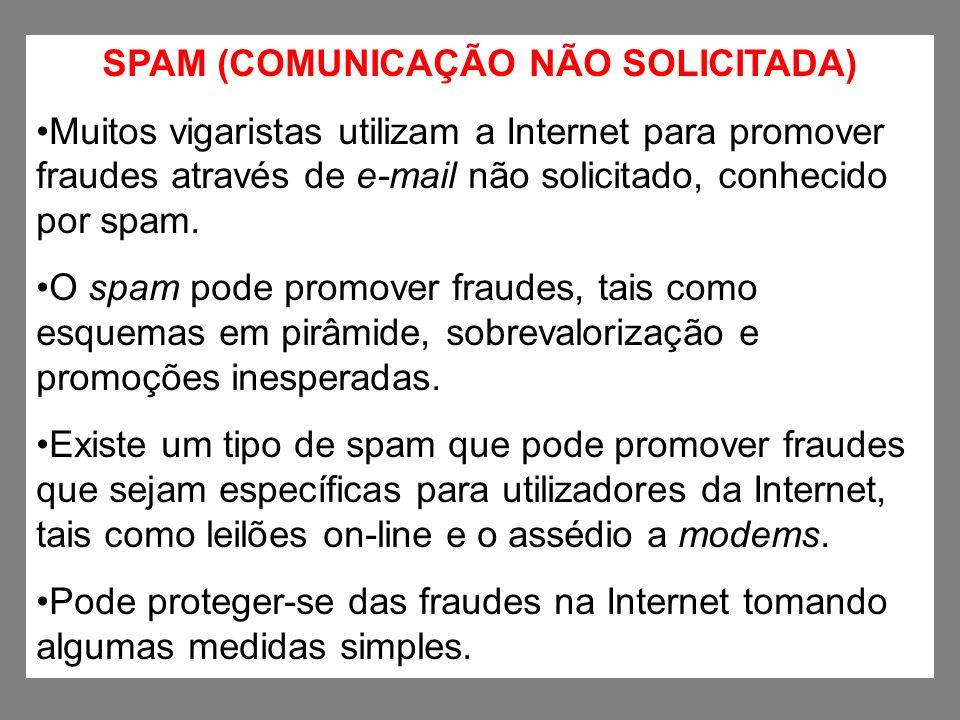 SPAM (COMUNICAÇÃO NÃO SOLICITADA)