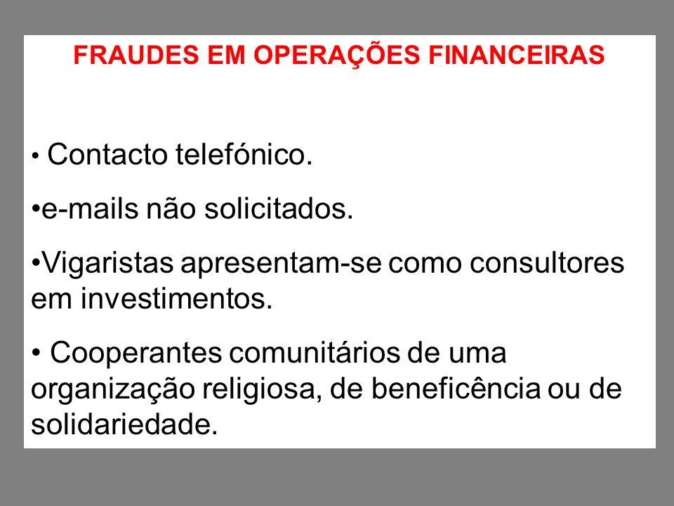 FRAUDES EM OPERAÇÕES FINANCEIRAS