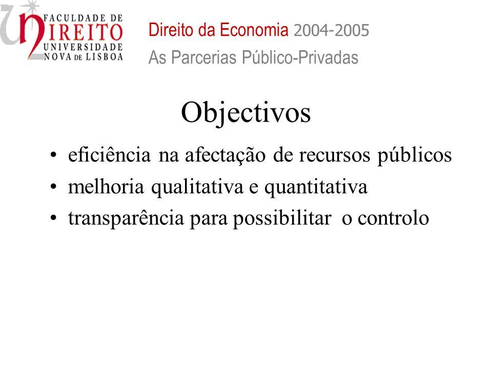 Objectivos eficiência na afectação de recursos públicos