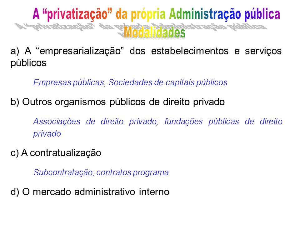 A privatização da própria Administração pública