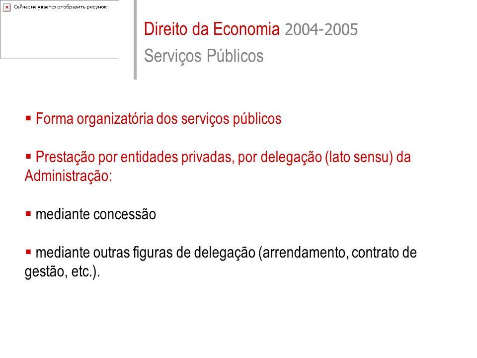 Direito da Economia 2004-2005 Serviços Públicos