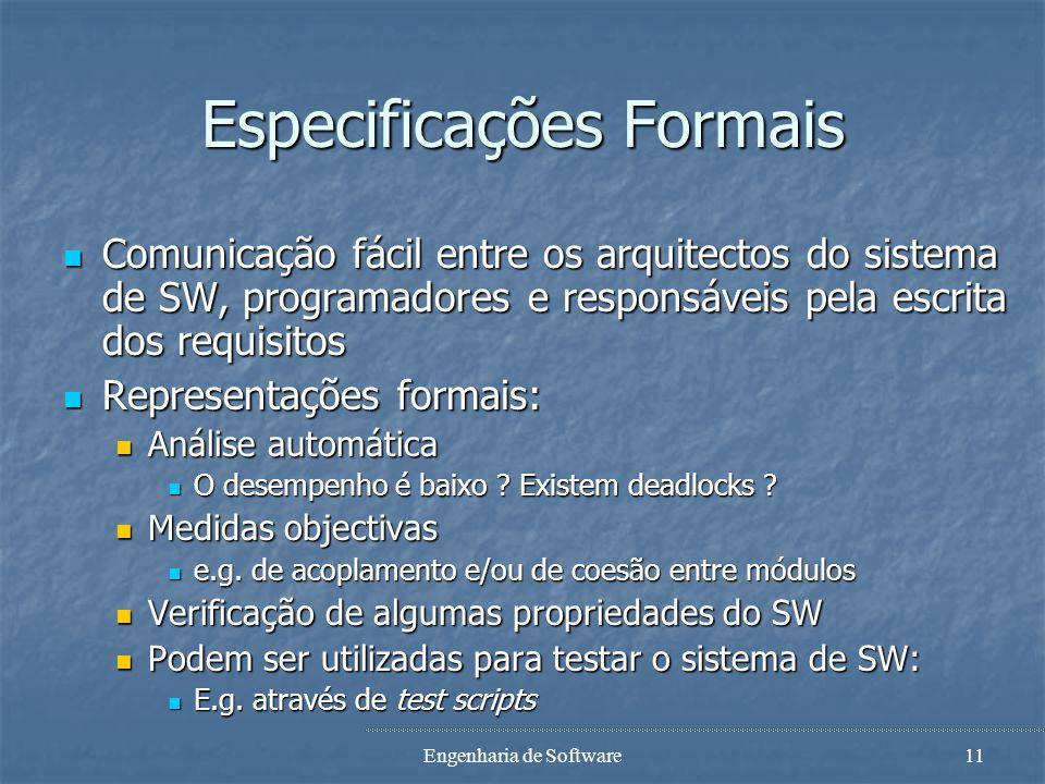 Especificações Formais