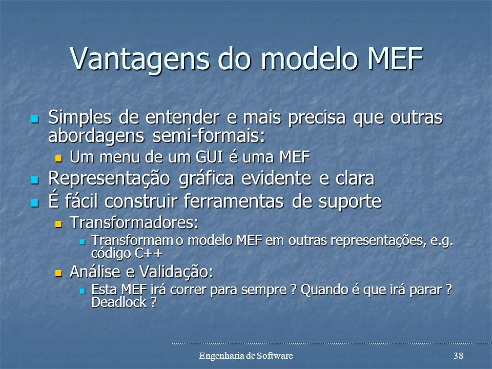 Vantagens do modelo MEF