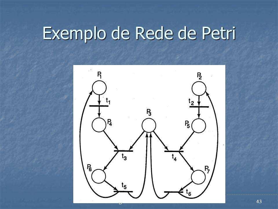 Exemplo de Rede de Petri