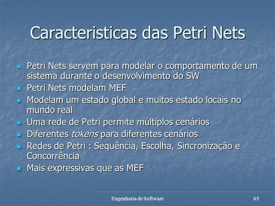 Caracteristicas das Petri Nets