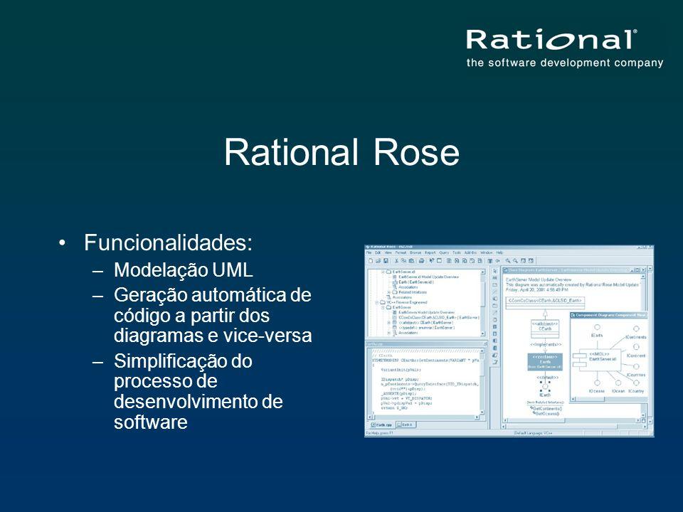 Rational Rose Funcionalidades: Modelação UML