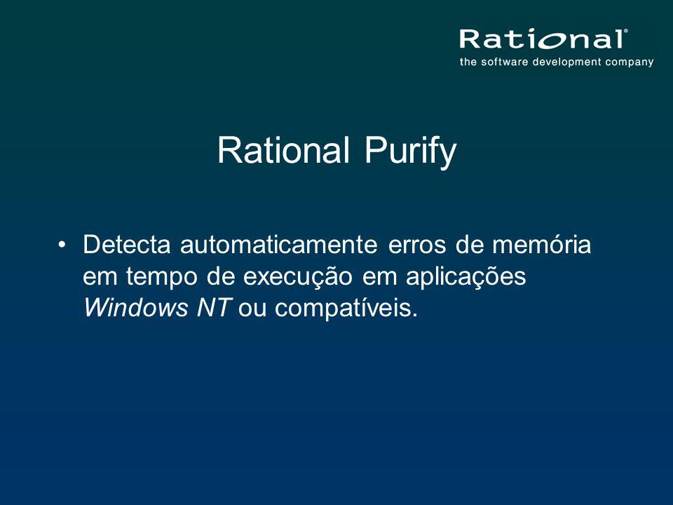Rational PurifyDetecta automaticamente erros de memória em tempo de execução em aplicações Windows NT ou compatíveis.