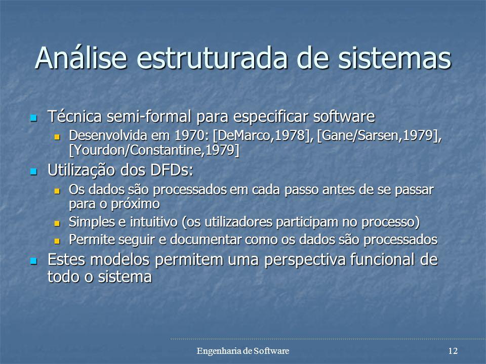 Análise estruturada de sistemas