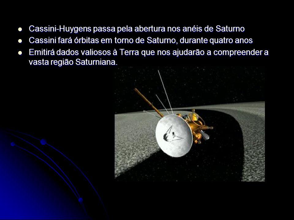 Cassini-Huygens passa pela abertura nos anéis de Saturno