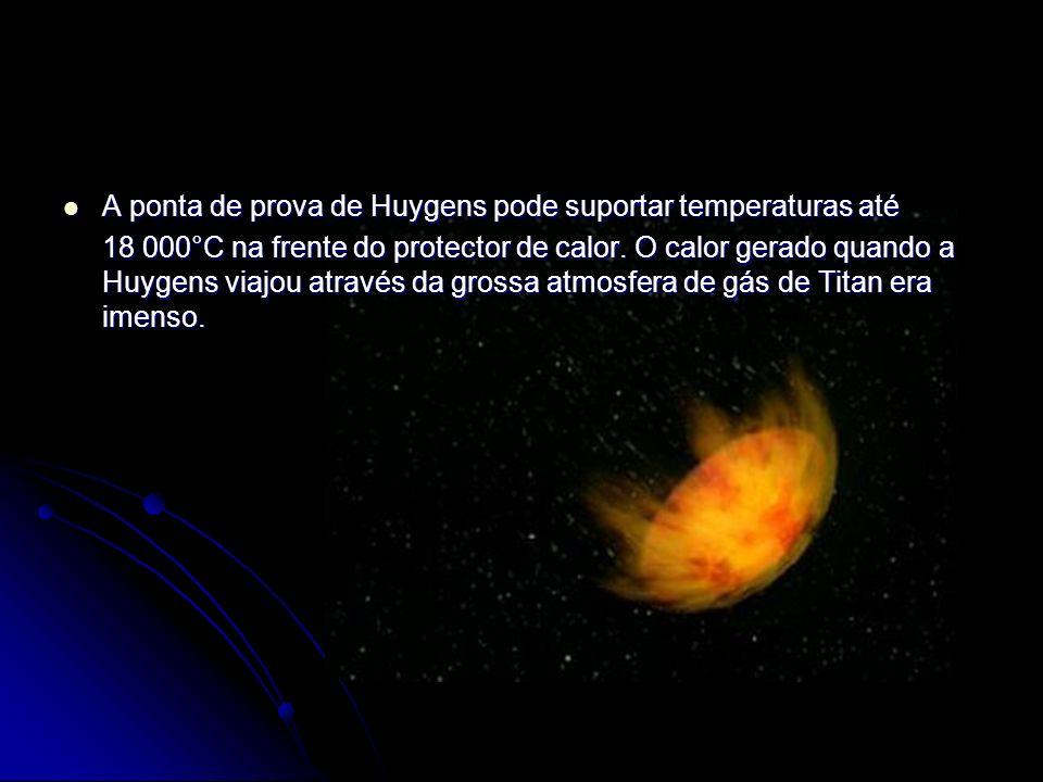 A ponta de prova de Huygens pode suportar temperaturas até