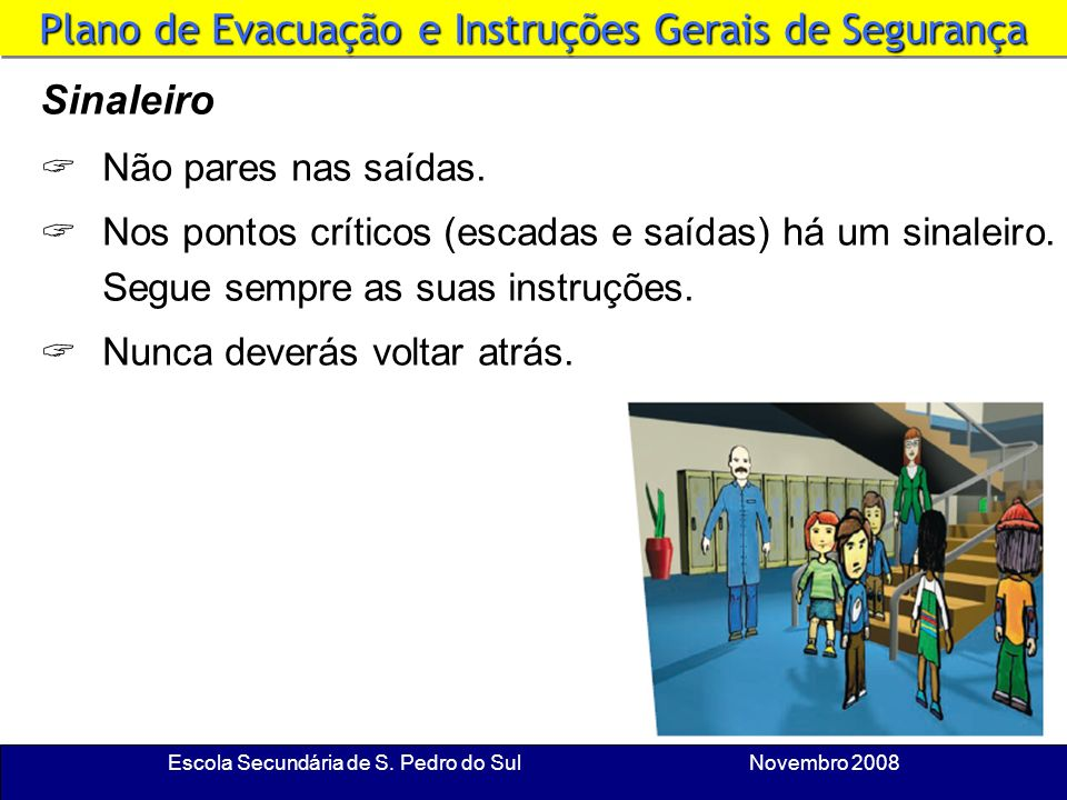 Plano de Evacuação e Instruções Gerais de Segurança