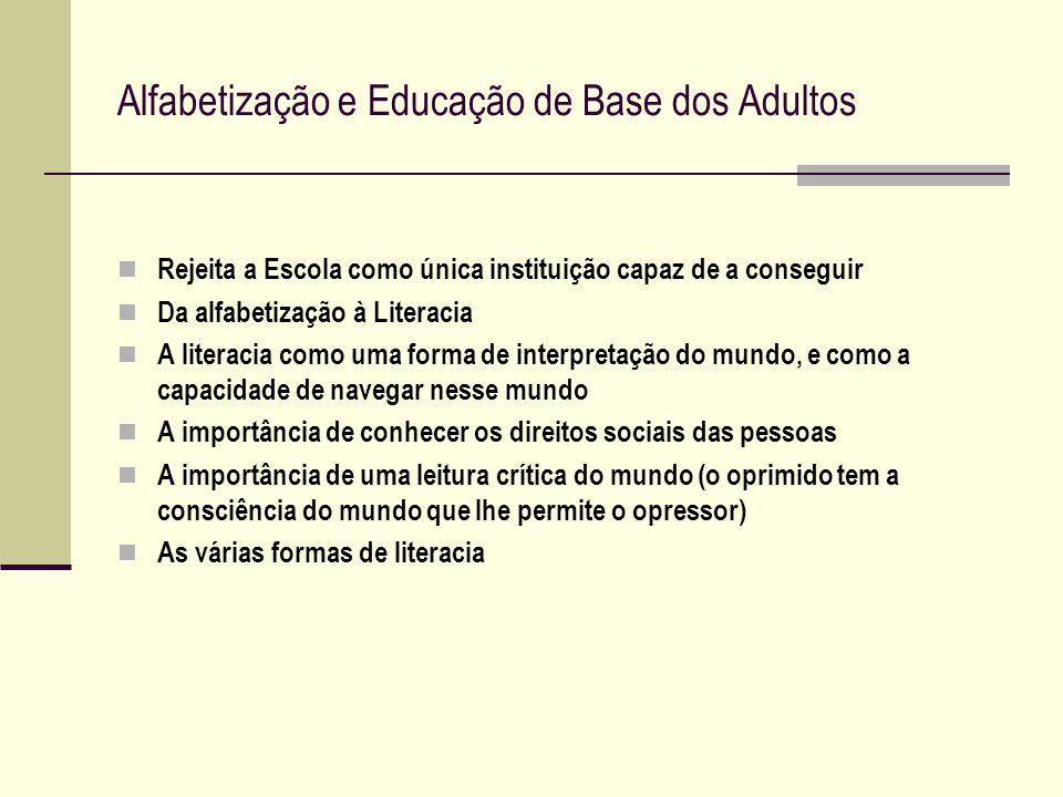 Alfabetização e Educação de Base dos Adultos